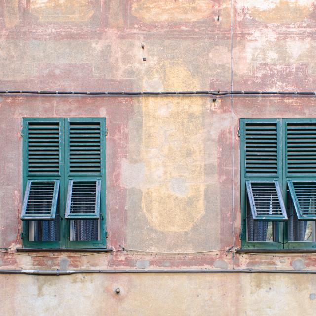 """Italian Window Shutters"" stock image"
