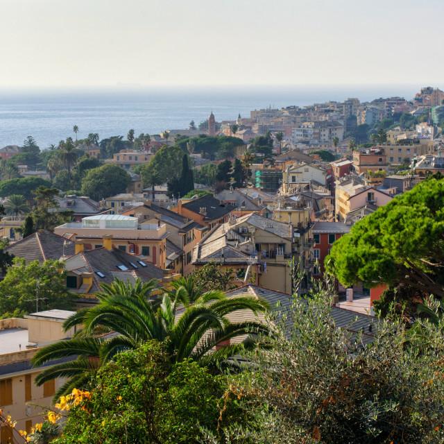 """Aerial View Of Genoa Nervi"" stock image"