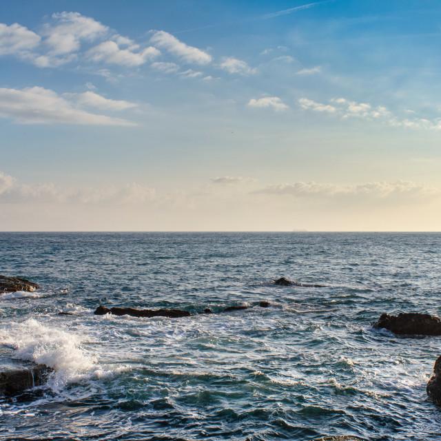 """Into the Ligurian Sea"" stock image"