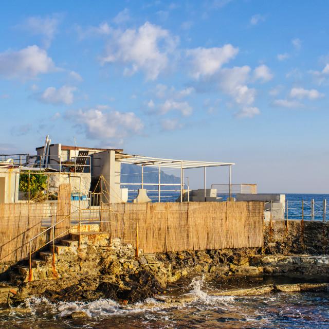 """Seafront Resort In Genoa Nervi"" stock image"
