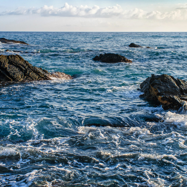 """Rocks In The Ligurian Sea"" stock image"