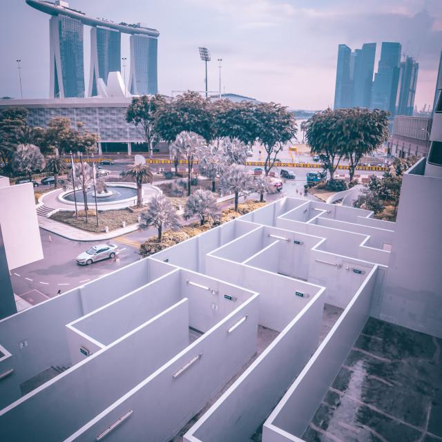 """City Maze"" stock image"