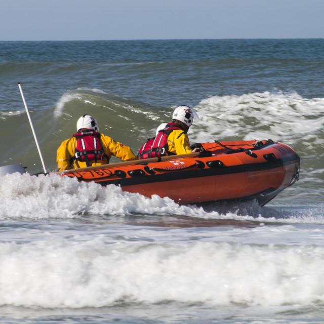 """Borth Inshore Lifeboat"" stock image"