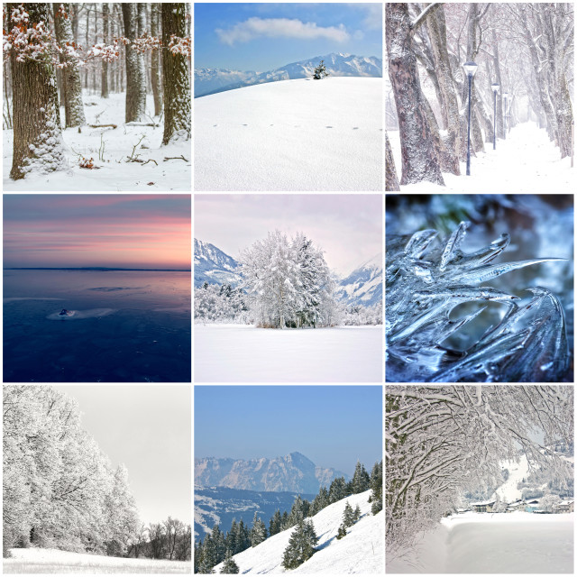 """""""Photo collage of cold winter days"""" stock image"""