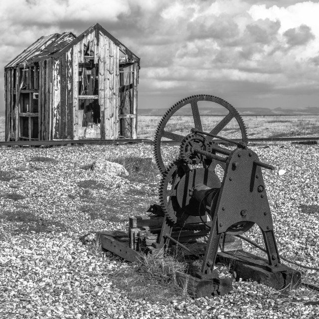 """""""The Shed and Winch"""" stock image"""