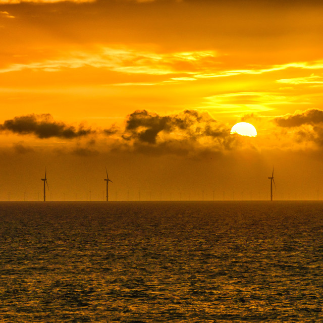 """Clacton On Sea November Sunrise"" stock image"