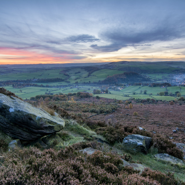 """Looking out from Baslow Edge Two"" stock image"