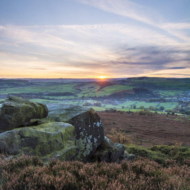 """Looking out from Baslow Edge"" stock image"