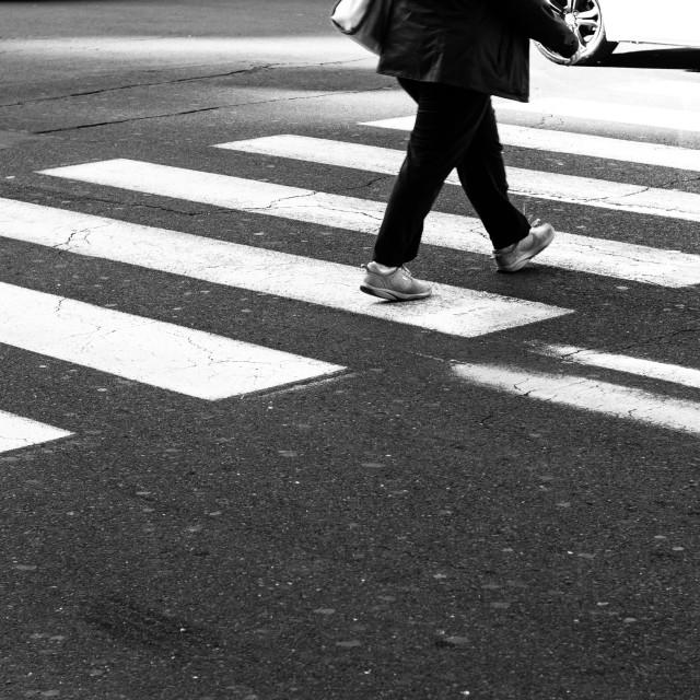 """Men on pedestrian crossing"" stock image"