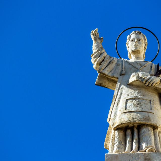"""Sicilian Baroque statue"" stock image"