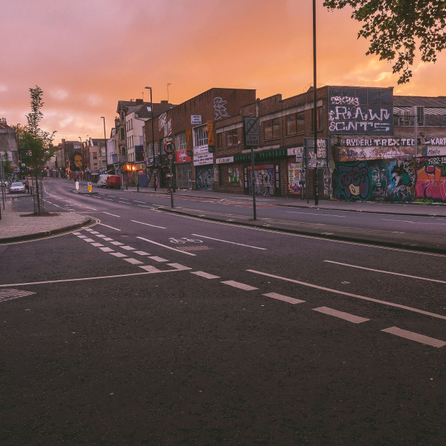 """Empty Stokes Croft"" stock image"