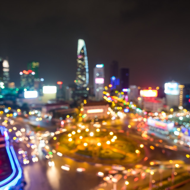 """bokeh of citynight"" stock image"