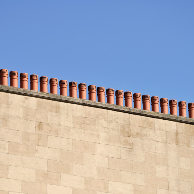"""Chimneys"" stock image"