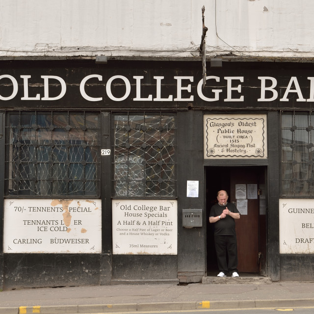 """The Old College Bar"" stock image"
