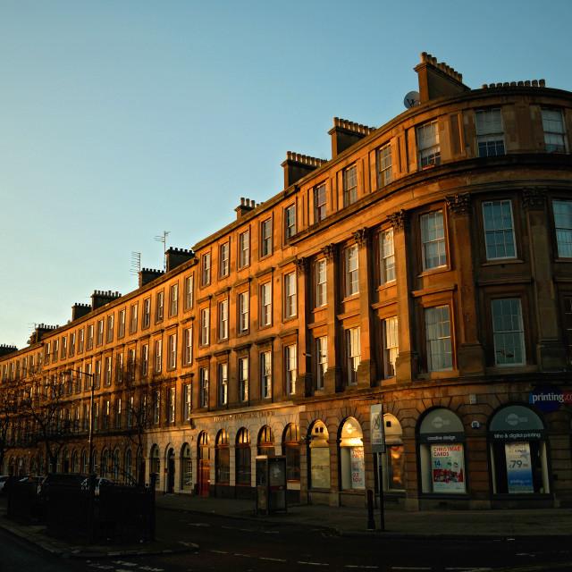 """Minerva Street, Glasgow"" stock image"
