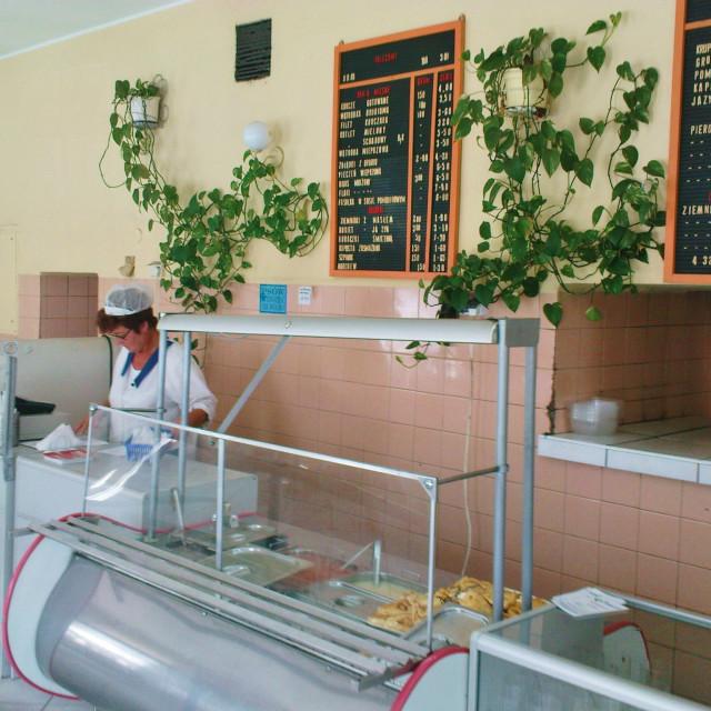 """""""Kraków Milk Bar"""" stock image"""