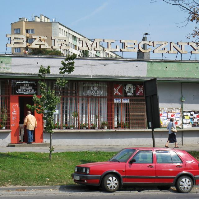 """Nowa Huta Milk Bar, Kraków Poland"" stock image"