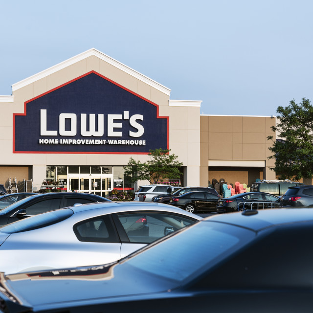 """""""Lowe's home improvement superstore."""" stock image"""