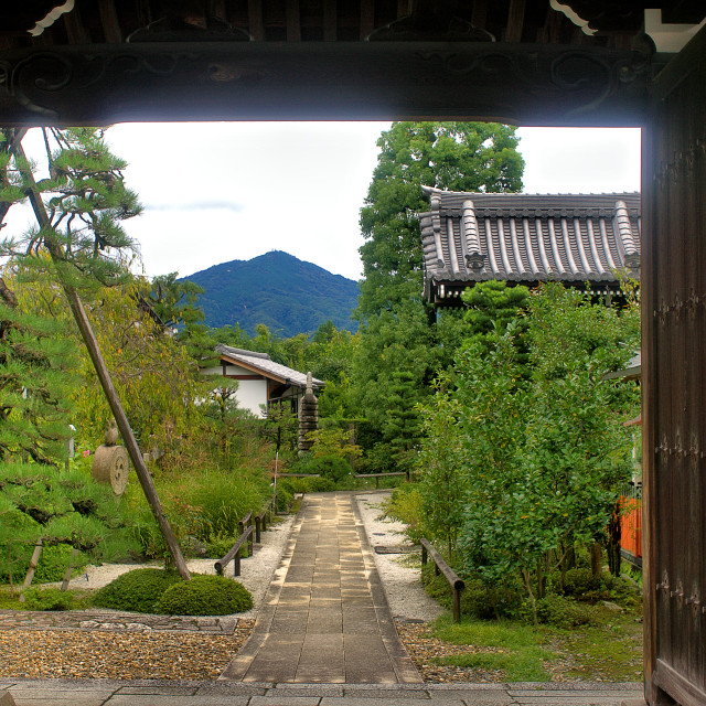 """""""Temple entrance, Kyoto"""" stock image"""