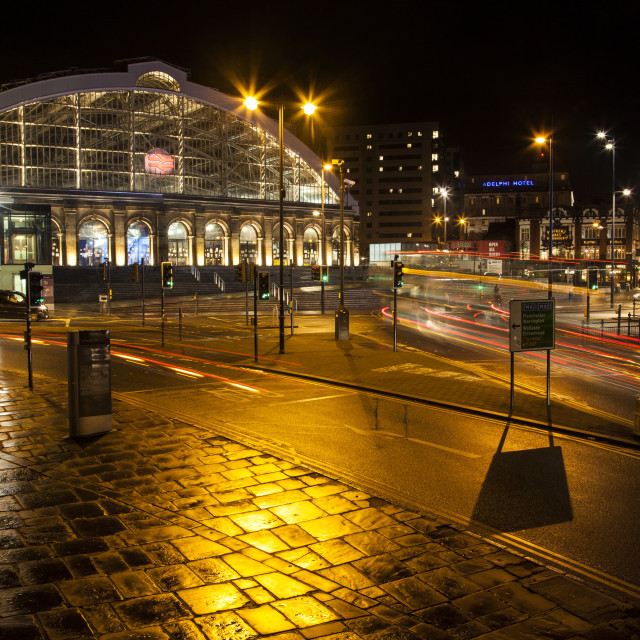 """Lime Street Station"" stock image"