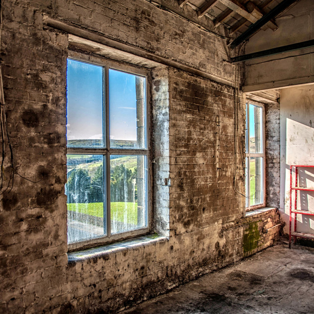 """""""Sunlight at the old mill"""" stock image"""