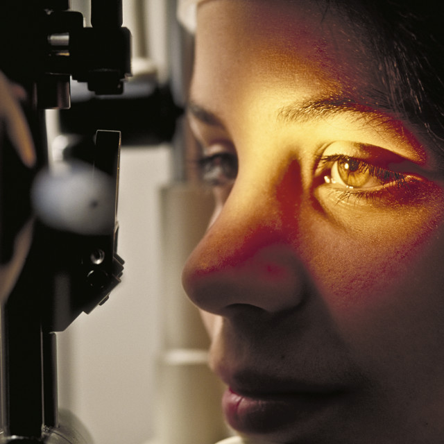 """Eye exam."" stock image"