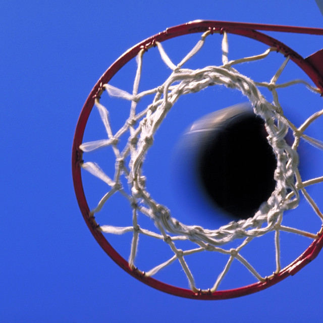 """Basketball net."" stock image"