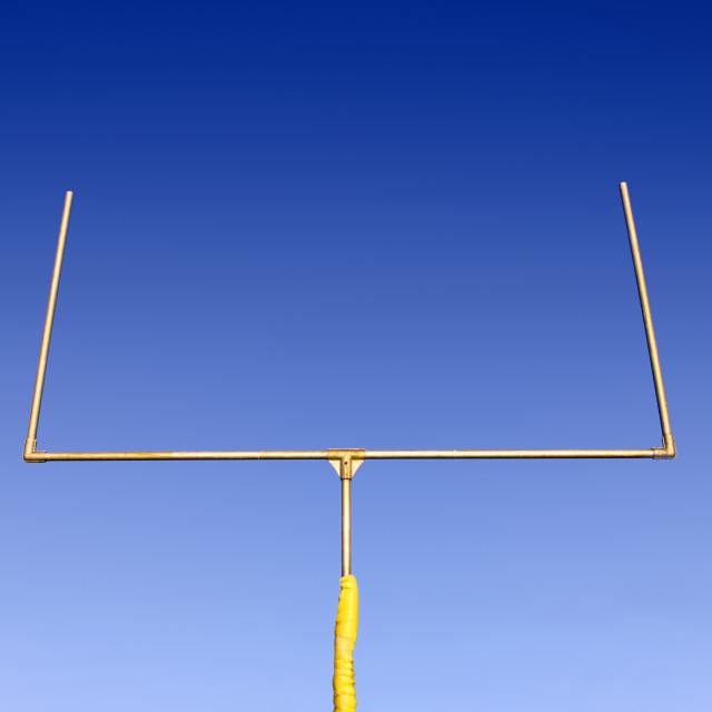 """Football field goal."" stock image"