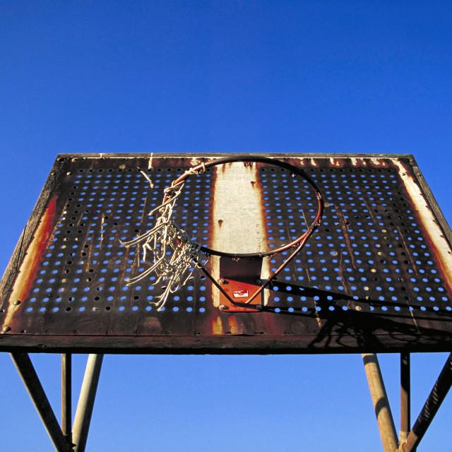 """Basketball net."" stock image"
