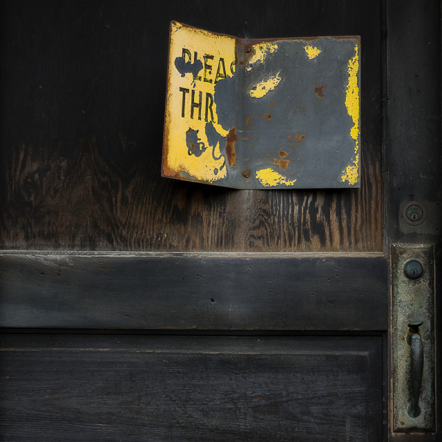 """""""Knock 3 Times If You Dare"""" stock image"""