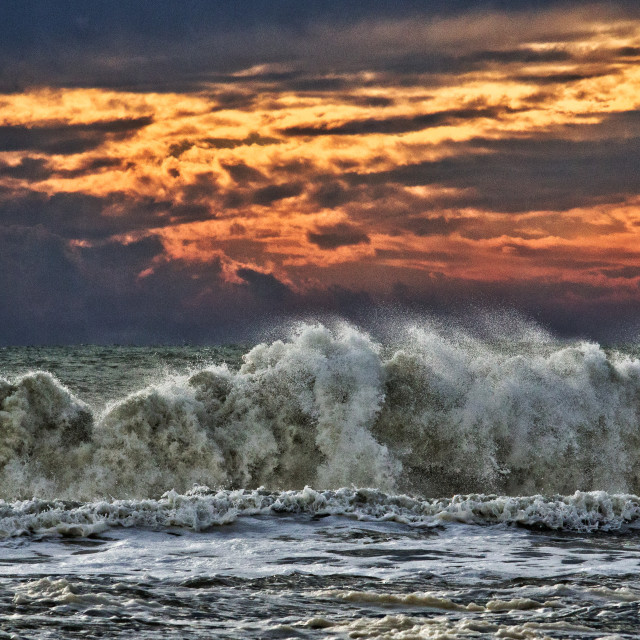 """Storm waves"" stock image"