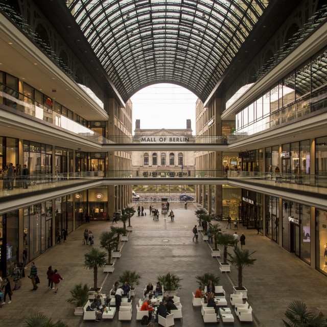 """Mall Of Berlin"" stock image"