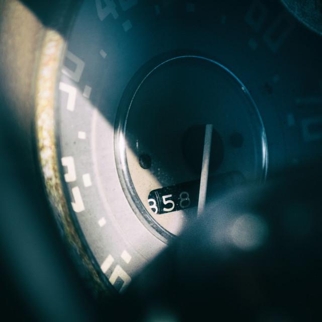 """Odometer - 858"" stock image"