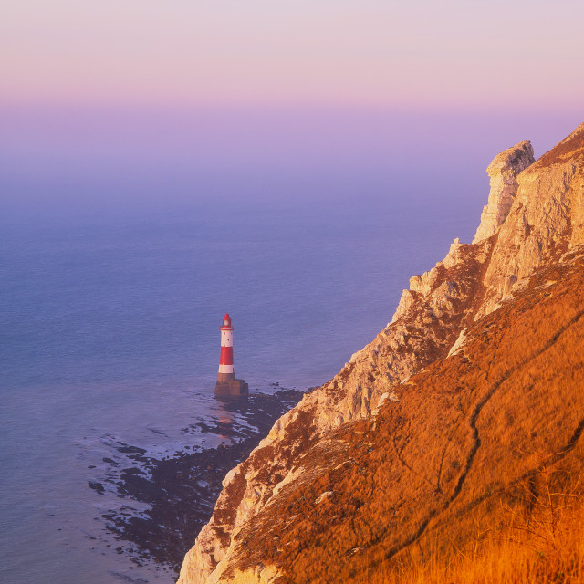 """Morning at Beachy Head Lighthouse"" stock image"