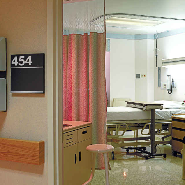 """""""Hospital patient room."""" stock image"""