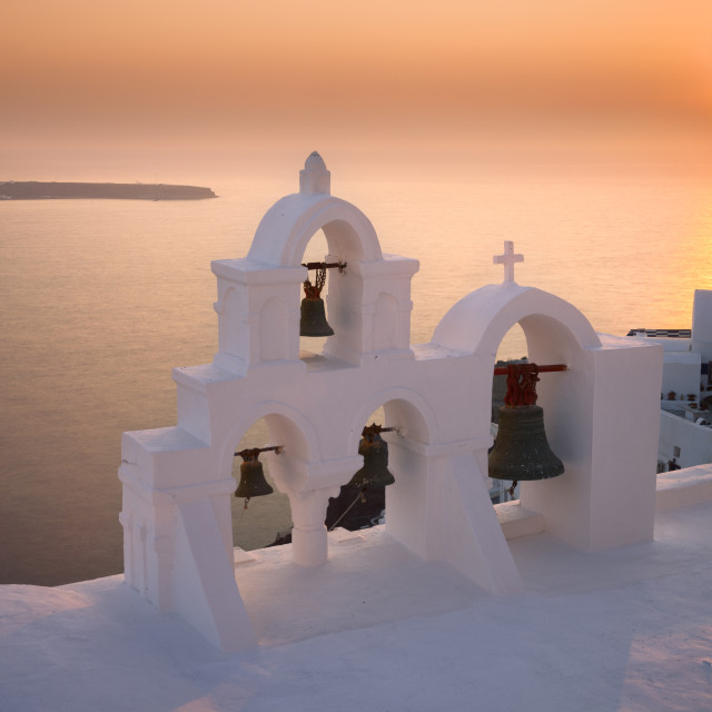 """Oia Sunset"" stock image"