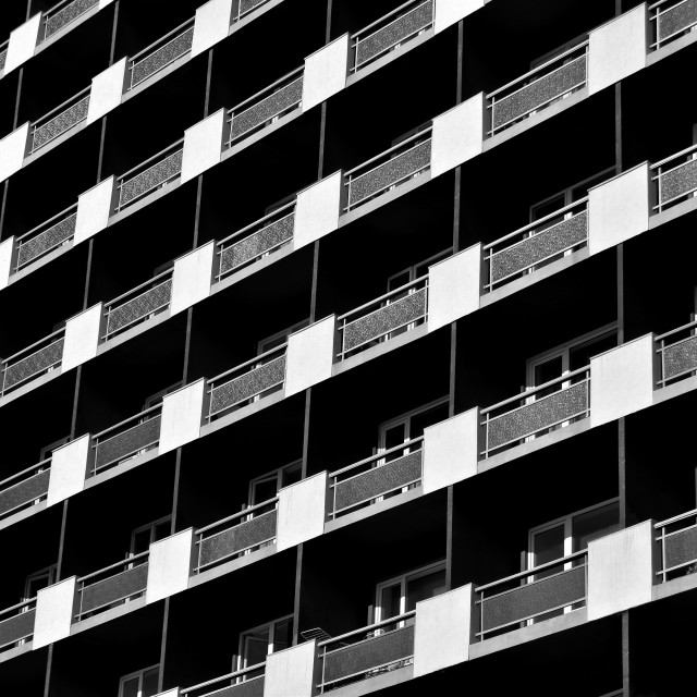"""Balconies"" stock image"