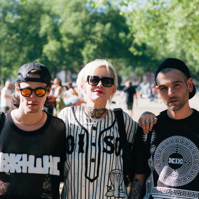 """London Fields Crew"" stock image"