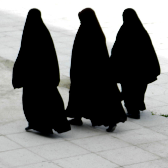 """Three muslim women"" stock image"