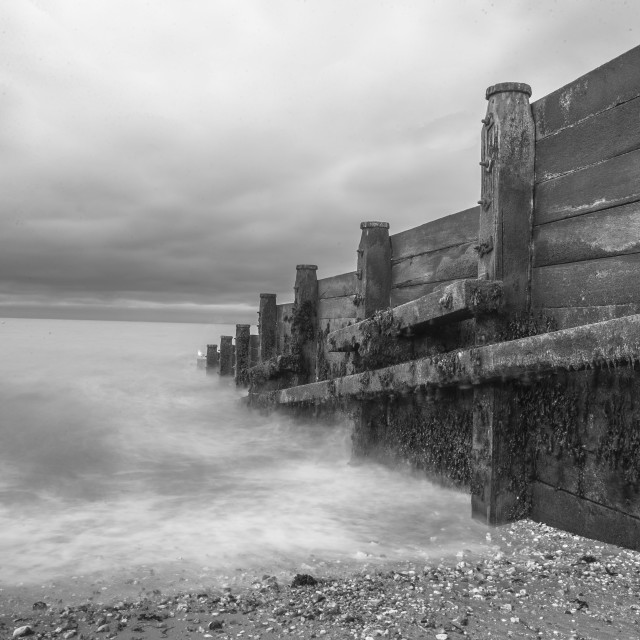 """Whitstable In Black And White"" stock image"