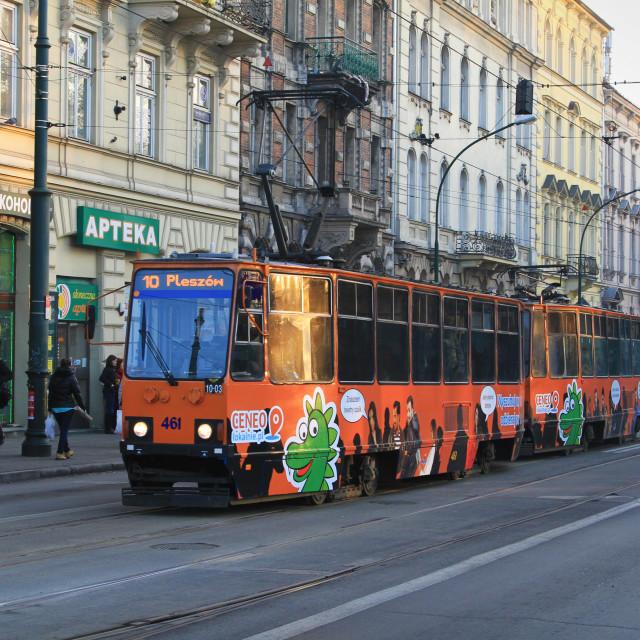 """""""Krakow Tram"""" stock image"""