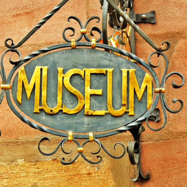 """Nürnberg Museum Sign"" stock image"