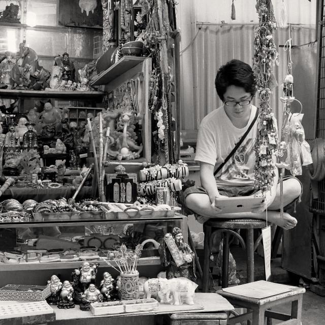 """Furnishings Stall in Hong Kong"" stock image"
