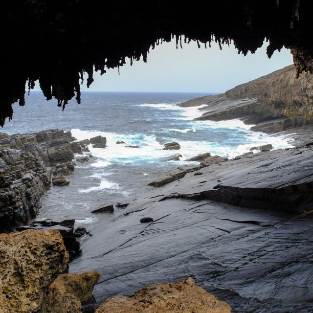 """""""Admirals Arch on Kangaroo Island, Australia"""" stock image"""