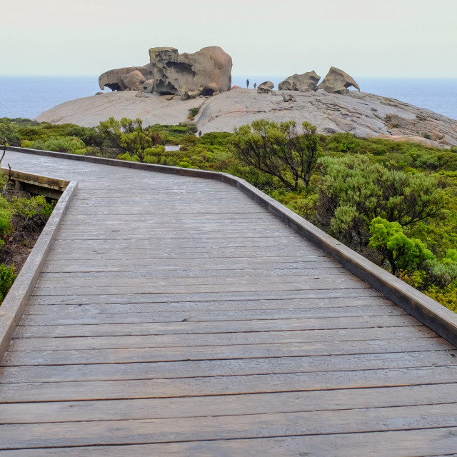 """Wooden bridge in Kangaroo Island, Australia"" stock image"