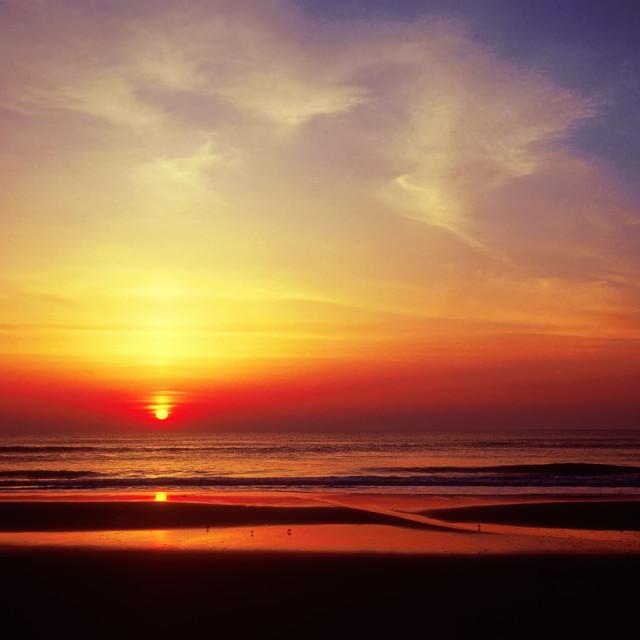 """Sunrise, Skaket Beach, Orleans, Cape Cod, Massachusetts, USA"" stock image"