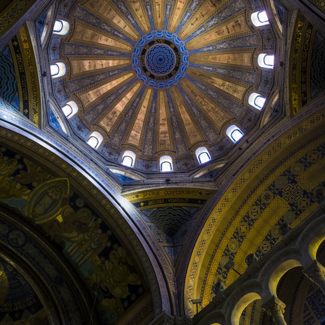 """Esglesia de la Mare de Deu del Carme church in Diagonal Aven"" stock image"