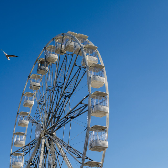 """Big Wheel against Blue Sky"" stock image"