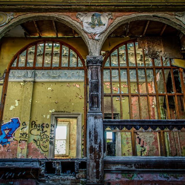 """Derelict Building Interior 4"" stock image"