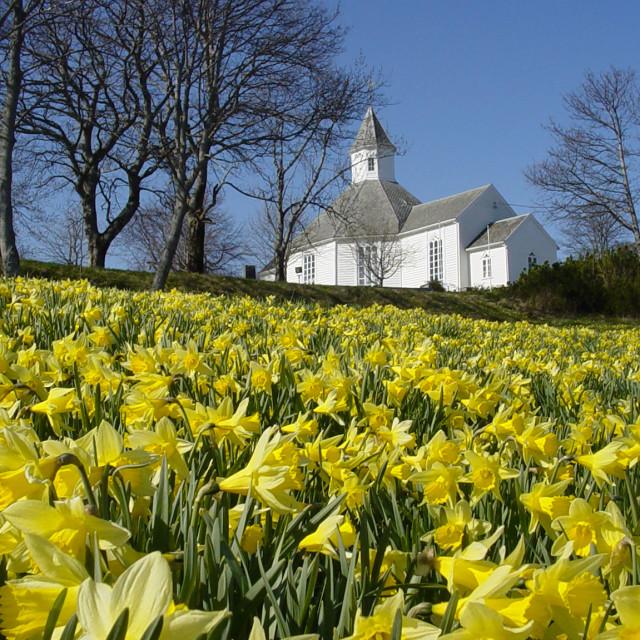 """Aukra church"" stock image"